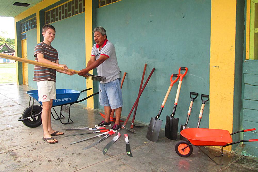 Schooltuin Peru Tuingereedschap